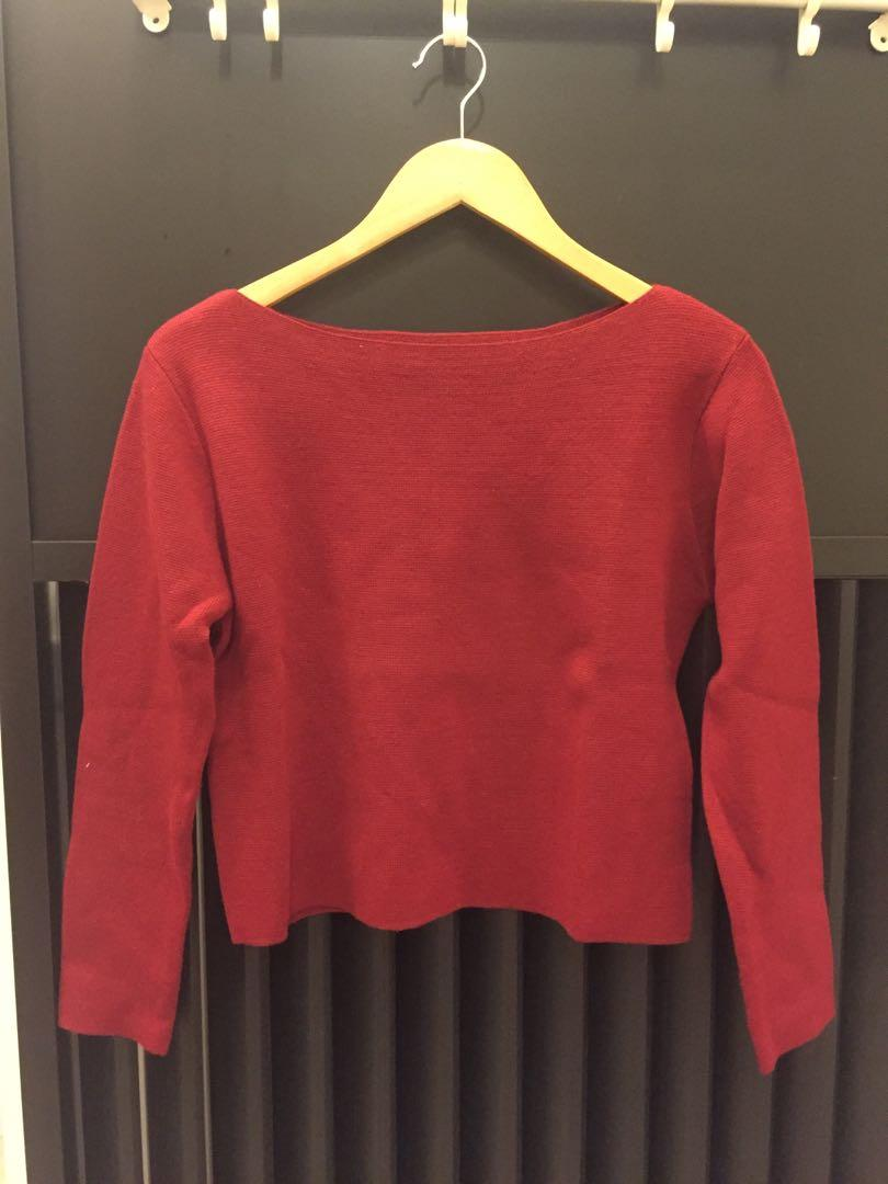 Quality red Knitwear from Japan