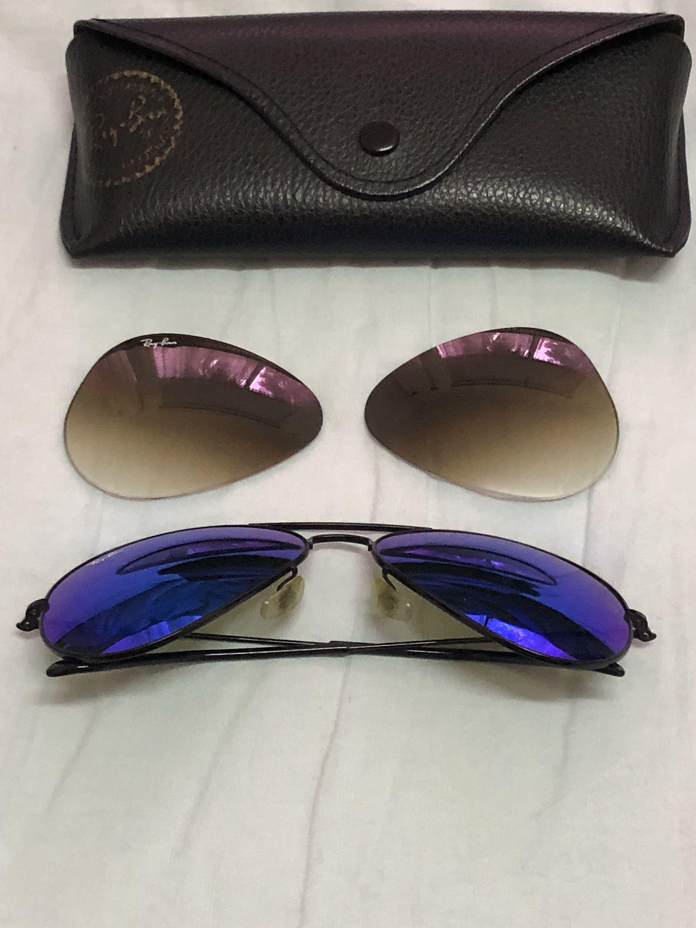 31a77791ae2e Ranyban 3025 (size 58) with 2 coloured lens, Men's Fashion ...