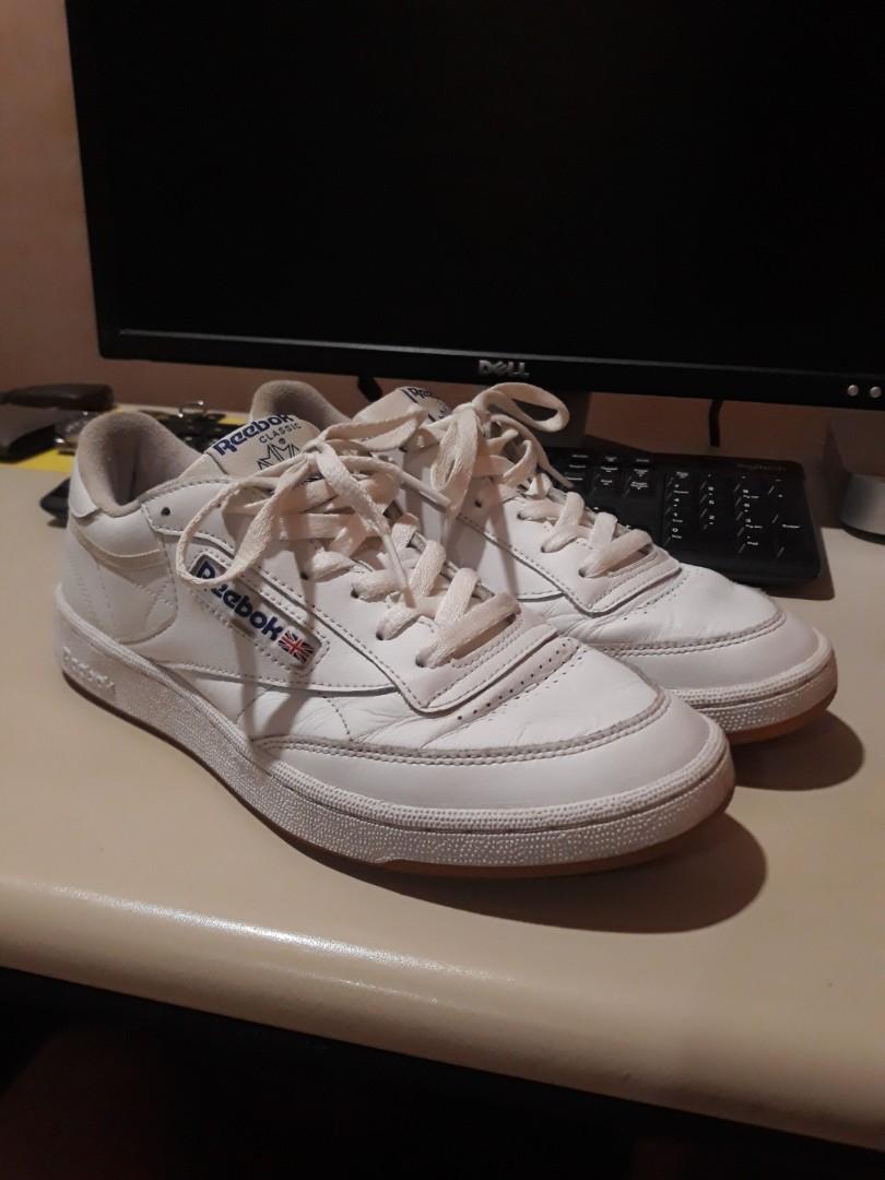 9f12dff9ecca4 Reebok Classic Club C 85 Size 9 white leather gum