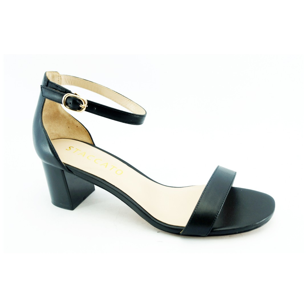 a3c0e08664 STACCATO Low Heel Sandal, Women's Fashion, Shoes, Heels on Carousell