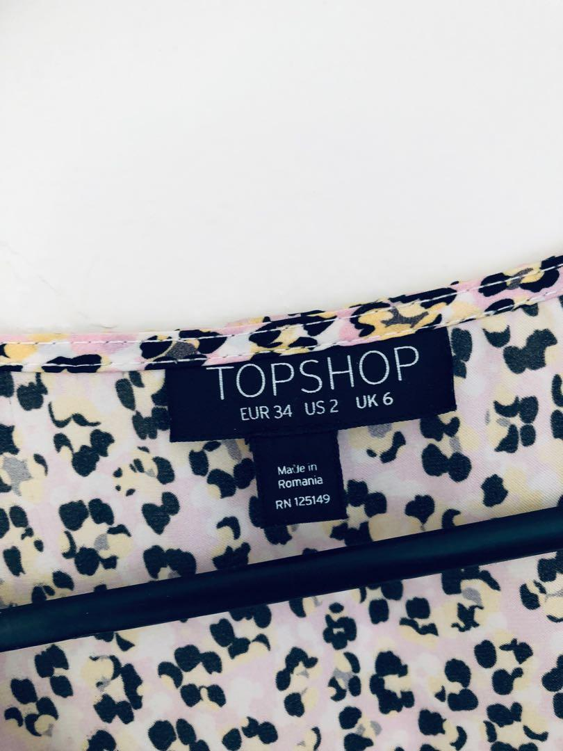 Topshop Satin Tie Up Top