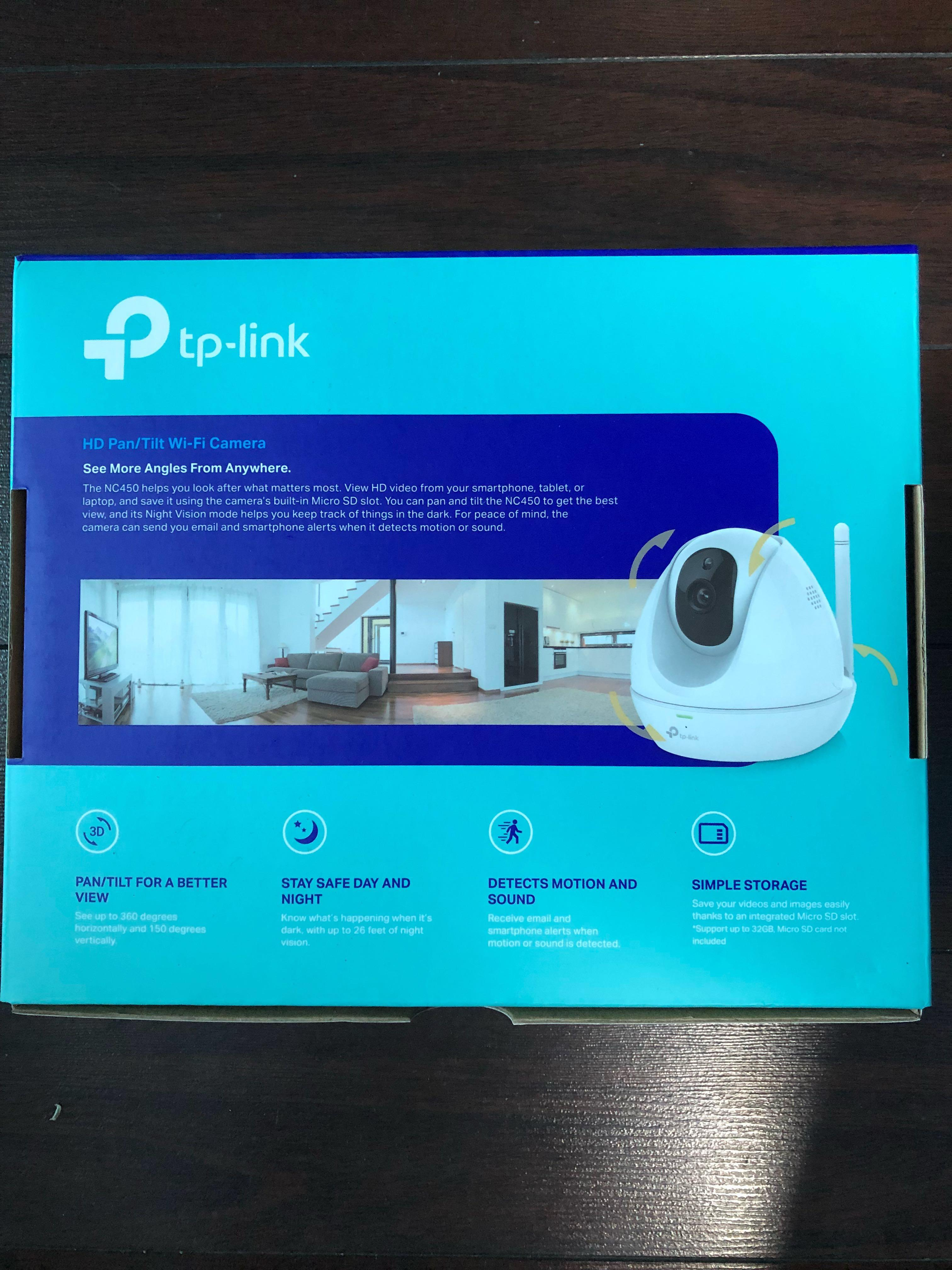 Tp link HD Pan/Tilt Camera NC450, Electronics, Others on