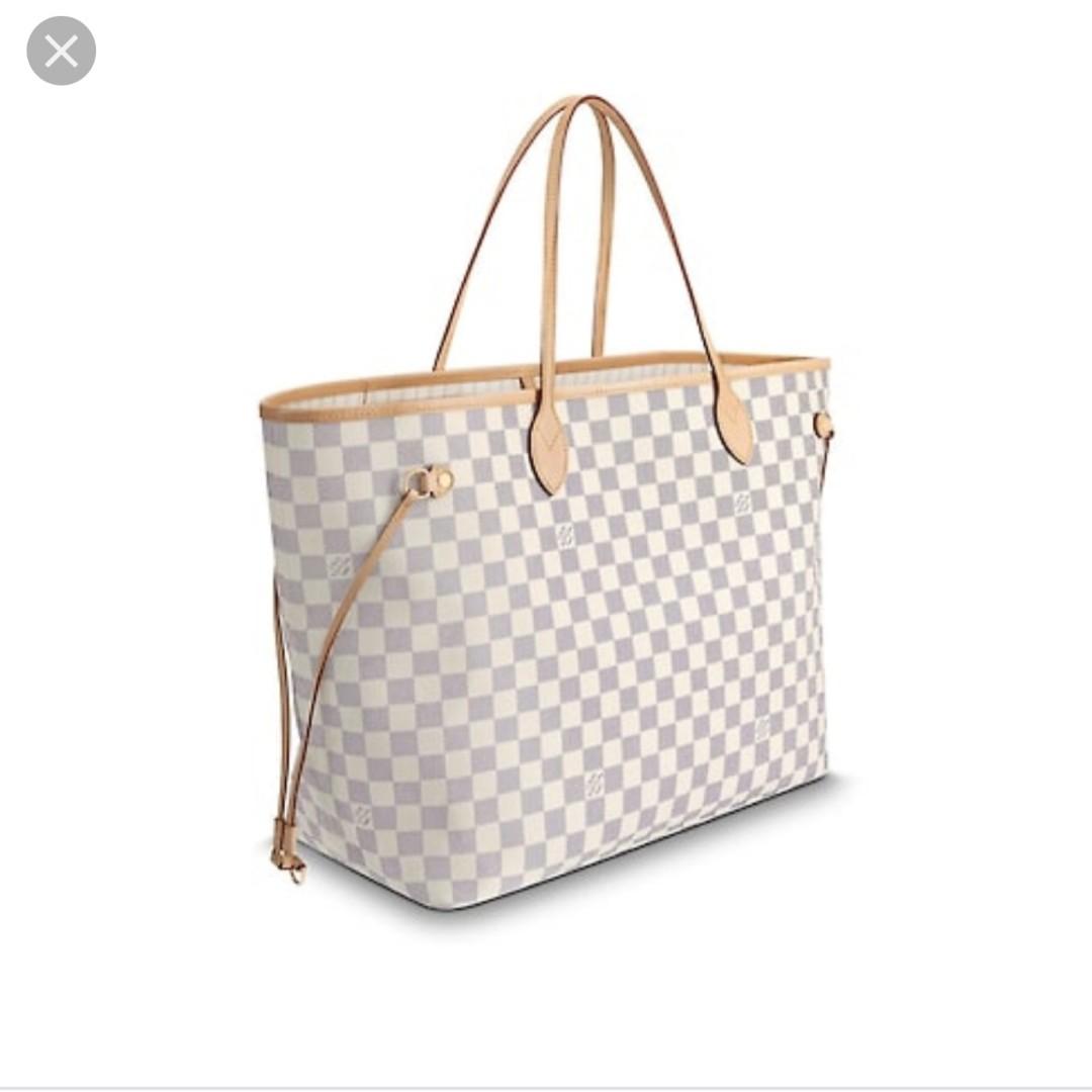 73450582a4c8 White LV Neverfull GM Bag