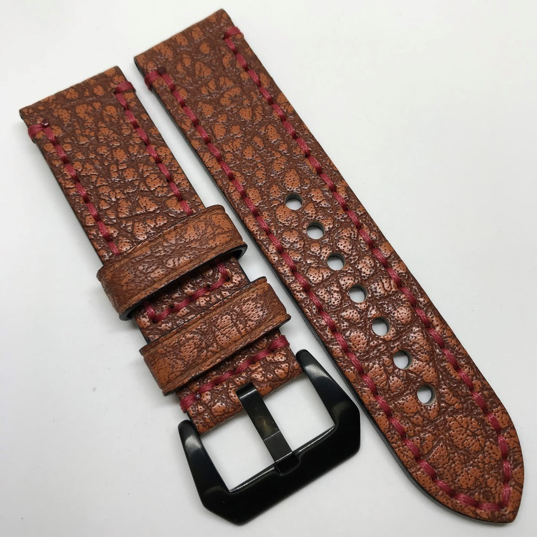 765f3ff44 12.12 Sale: 24mm Watch Strap Vintage Reddish Colour Genuine Leather ...