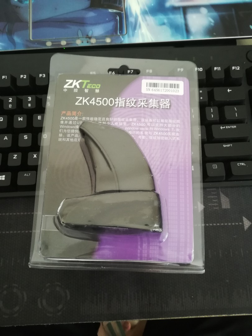 ZK4500 USB Fingerprint Reader Sensor including SDK tools installer