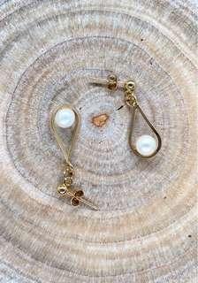 🚚 14K金珍珠耳環