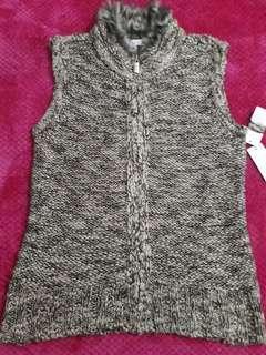 WomenFur Trim Knit Sweater Vest