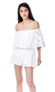 The Editor's Market Rafeale Eyelet Lace Romper