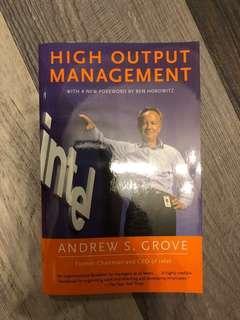 《High Output Management》#sellfaster