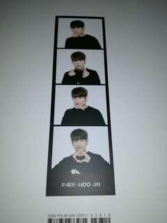 Wanna One Woojin 4-cut photo Bookmark