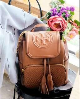 Tory Burch Fleming Backpack in Brown