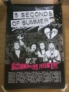 5SOS Sounds Good Feels Good tour poster