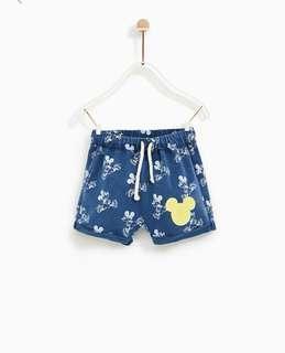 🚚 Zara Baby Mickey Mouse© Shorts
