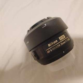 nikon dx 35mm 1.8 dslr nikkor lens