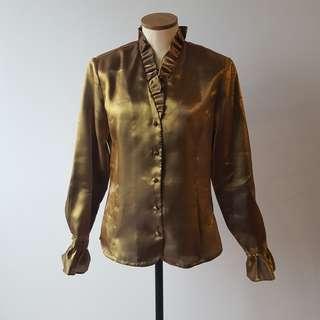 Vintage Metallic Blouse