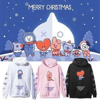 BTS BT21 INSPIRED CHRISTMAS EDITION HOODIE