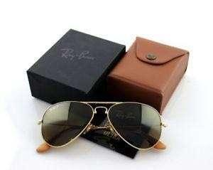 Rayban Sunglasses Aviator Folding Ultra Limited Edition 22K Gold Plated