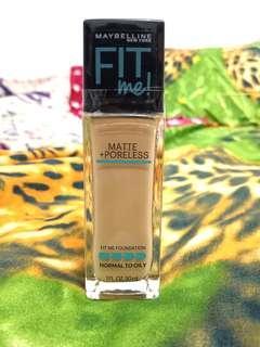 Foundation Maybelline - Fit Me Matte + Poreless Shade Natural Beige (220) FREE ONGKIR JABODETABEK ❤️
