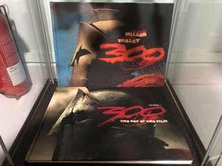 300 Spartan Movie Book & Comic Book