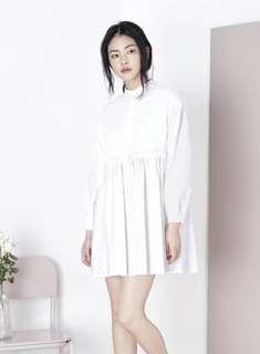 [And Well Dressed] Ruffled Shirt Dress