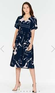 [The Closet Lover] Abstract Printed Midi Dress
