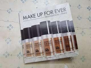 Make Up Forever UltraHD 4-Shade Foundation Sample Pack