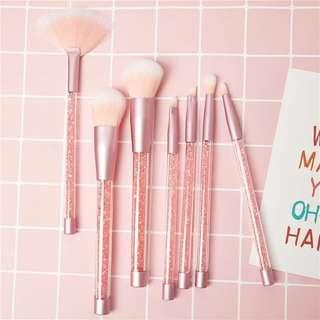 Make up brushes with pouch