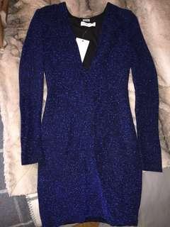 Bec & bridge midnight blue sparkle dress