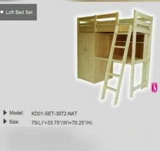 Loft bed( SELLING VERY CHEAP CAN NEGO)