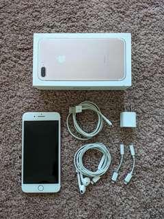 Unlocked iPhone 7 plus 128gb in Rose Gold