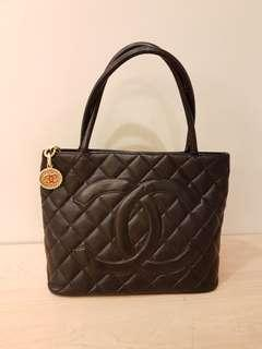 Chanel Medallion Quilted Caviar Black Tote
