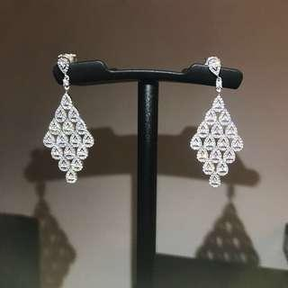 Genuine Pandora Cascading Glamour Hanging Earrings 296321CZ