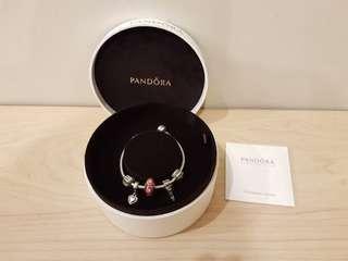 Pandora Charm Bracelet - For My Queen Silver Set