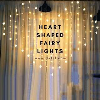 LED Heart Shaped Fairy Lights (Wedding / Proposal / Anniversary / Birthday / Decoration / Backdrop)