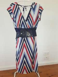Max Striped Dress with Belt