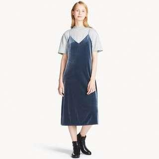 WOMEN VELOUR CAMISOLE DRESS