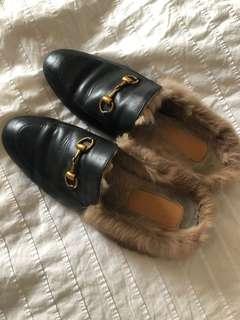 Horsebit Rabbit Fur 'Gucci'-esque Loafers