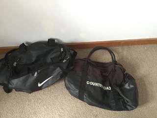 Nike Duffle Bag and Country Road Bag