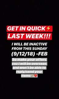 WILL BE INACTIVE