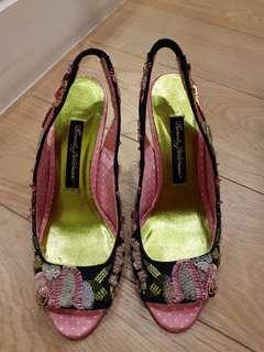 Beverly Feldman Embroidery Sequins Heels