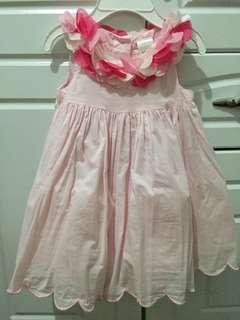 Gymboree pink dress,3-6 months