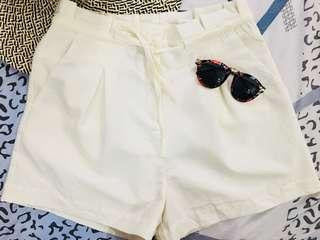 Kardashian Kollection Cream Paper Bag Shorts REPRICED