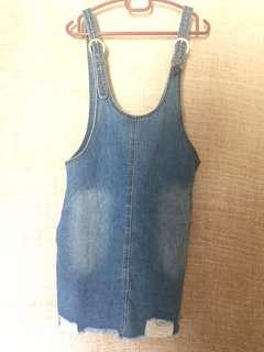 PDI P & Co Denim Pinafore Top