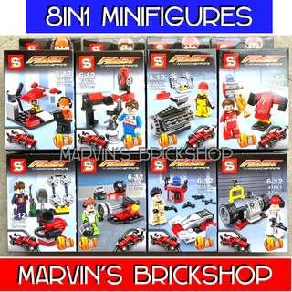 SY6773 FAST SPEED CHAMPIONS 8in1 Minifigures