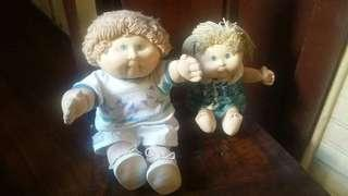 VINTAGE CABBAGE PATCH KIDS U.S.A. IMPORTED DOLLS
