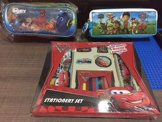 Stationery Set Cars, Paw Patrol, Dory Pencil Box