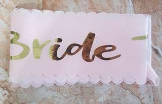 Pink Bridal Sash