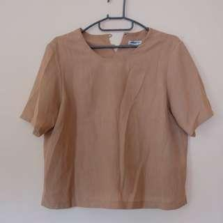 Brown sand nude blouse