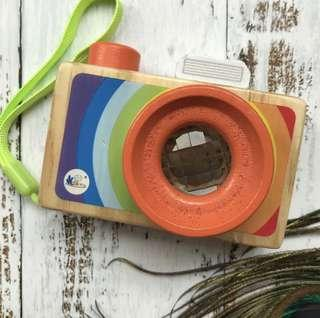 Wooden Camera Toy with Kaleidoscope