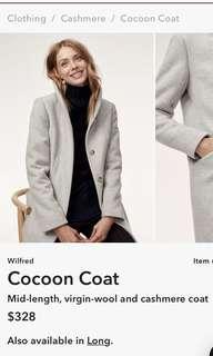 Aritzia cacoon coat